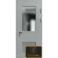 Техническая дверь Тех-03 Порошковое напыление со стеклопакетом с доставкой и установкой в Москве от производителя