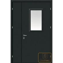 Техническая дверь Тех-11 Перхлорвиниливая краска со стеклопакетом с доставкой и установкой в Москве от производителя