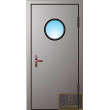 Техническая дверь Тех-12 Порошковое напыление с иллюминатором с доставкой и установкой в Москве от производителя