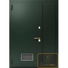 Техническая дверь Тех-13 Перхлорвиниливая краска с вентялиционной решеткой с доставкой и установкой в Москве от производителя