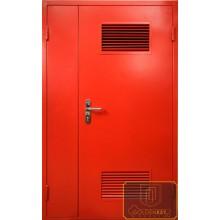 Техническая дверь Тех-09 Порошковое напыление с вентиляционной решеткой с доставкой и установкой в Москве от производителя
