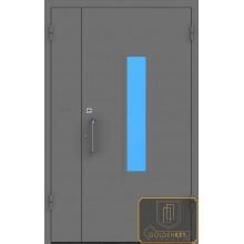 Техническая дверь Тех-10 Порошковое напыление со стеклопакетом