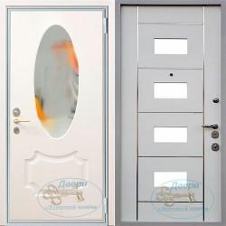 Входная железная дверь с зеркалом ВД-МЗ-МЗ 12