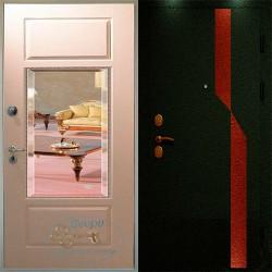 Металлические двери зеркалом Москва ВД-МЗ-ПД 09