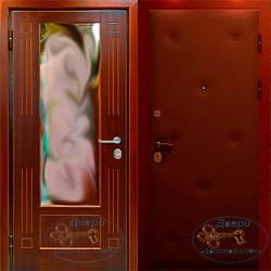 Металлические двери в квартиру зеркалом ВД-МЗ-ВР 04