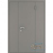 Тамбурная дверь ТД-ИВ-ИВ 21 Нитроэмаль с двумя боковыми вставками