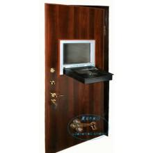 Двери в кассу  ДК-НС-Н 02 Ламинат со стеклопакетом