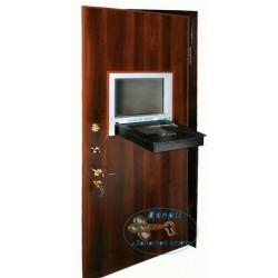 Дверь металлическая в кассу с ламинатом ДК-НС-Н 02