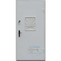 Дверь в кассу с порошковым напылением и решеткой ДК-ПС-Н 05