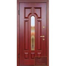 Входная дверь из массива со стеклопакетом МАС-07
