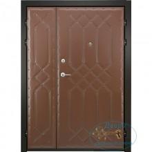 Двустворчатые двери ДД-ВР-ЛА 11 Винилискожа с рисунком-ламинат антивандальным