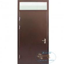 Тамбурная дверь ТД-ИС-ЛС 30 Нитроэмаль-ламинат со стеклопакетами