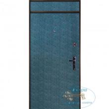 Тамбурная дверь ТД-ВВ-МД 20 Винилискожа-МДФ ПВХ с верхней вставкой с доставкой и установкой в Москве от производителя