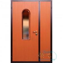 Тамбурная дверь ТД-ЛС-ЛС 23 Ламинат со стеклопакетом с доставкой и установкой в Москве от производителя