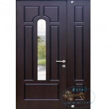 Двустворчатые двери со стеклопакетом ДД-МП-П 25