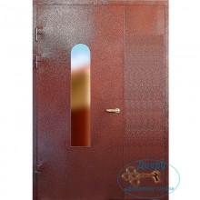 Входные двери в подъезд ПД-ПС-МП 21 Порошковое напыление со стеклом - МДФ постформинг с доставкой и установкой в Москве от производителя