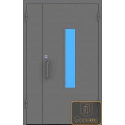 Дверь противопожарная металлическая двупольная ДМП-15