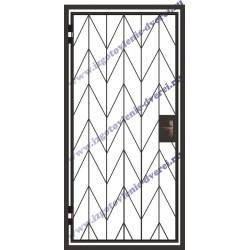 Дверь решетка металлическая в тамбур РД-11