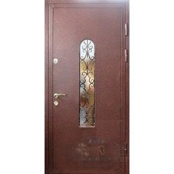 Железные двери со стеклопакетом