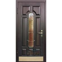 Массив дверь со стеклопакетом