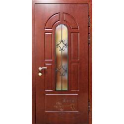 Входные двери со стеклопакетом для загородного