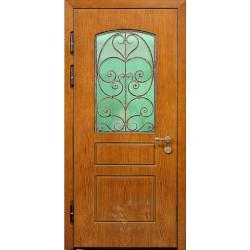 Дверь дом со стеклом