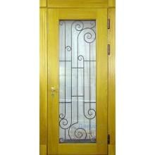 Дверь загородный дом со стеклом