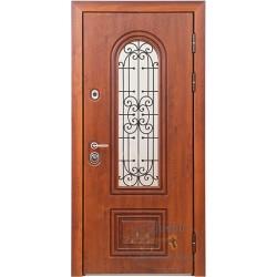 Дверь коттеджа со стеклопакетом