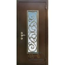 Входные металлические двери со стеклопакетом
