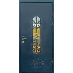 Двери со стеклом и ковкой