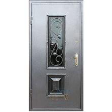 Серые двери со стеклом