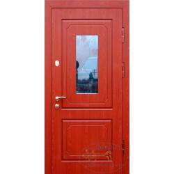 Входные двери дома уличные со стеклом