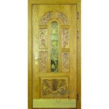 Дверь массив со стеклом