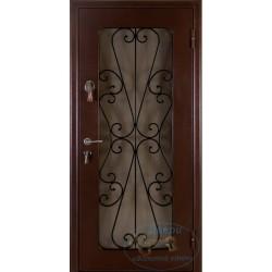 Железная дверь со стеклом