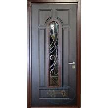 Дверь входная ПВХ со стеклом