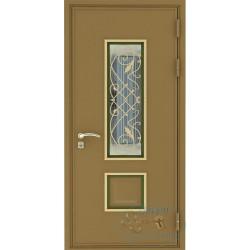 Дверь железная со стеклом входная