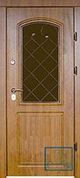 Решётка на металлической дверной панели №01
