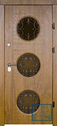 Решётка на металлической дверной панели №02
