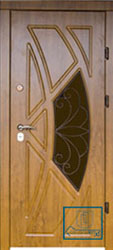 Решётка на металлической дверной панели №03