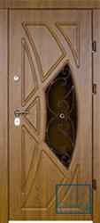 Решётка на металлической дверной панели №04