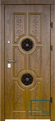 Решётка на металлической дверной панели №05