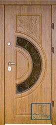 Решётка на металлической дверной панели №06