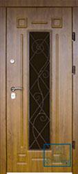 Решётка на металлической дверной панели №07