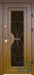 Решётка на металлической дверной панели №