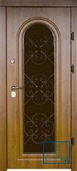 Решётка на металлической дверной панели №09