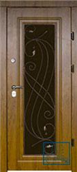 Решётка на металлической дверной панели №010