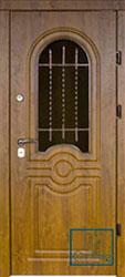 Решётка на металлической дверной панели №011