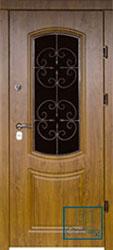 Решётка на металлической дверной панели №012