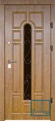 Решётка на металлической дверной панели №013