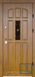 Решётка на металлической дверной панели №014